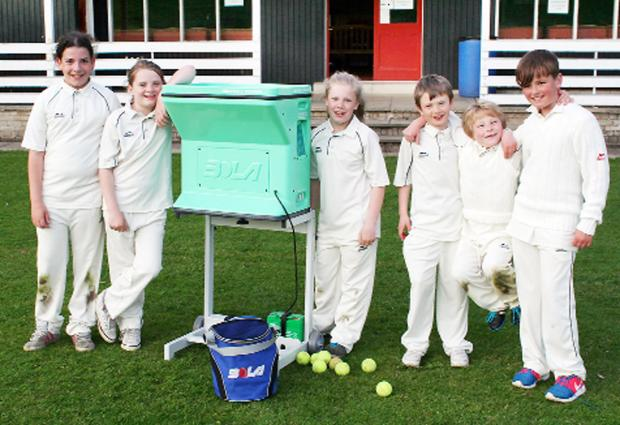 Burneside youngsters prepare to use the new Bola ball trainer