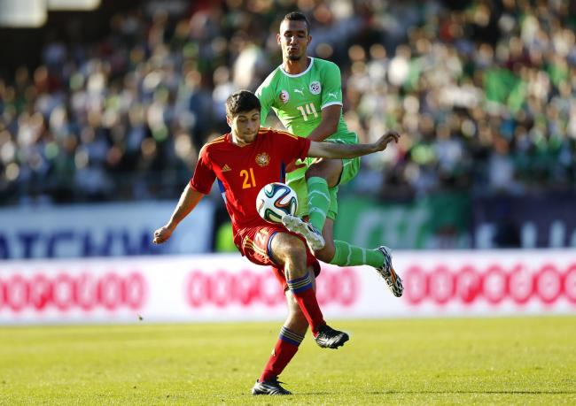 Nabil Bentaleb in action for Algeria against Armenia