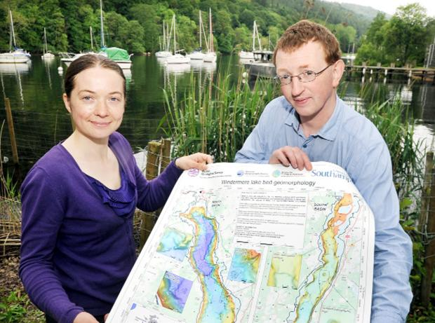 Collections manager Tamsen Vicary and project officer Gary Rushworth, of the Clear Waters project