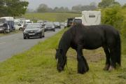 Travellers parked up in Kirkby Stephen