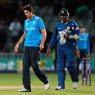 One-day captains Alastair Cook, left, and Angelo Mathews, right, will meet again in November