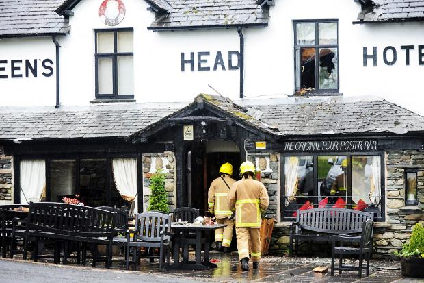 The Westmorland Gazette: The pub the day after the blaze
