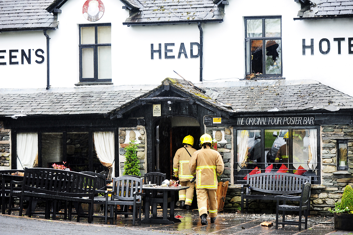 The pub the day after the blaze