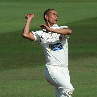 Somerset's Alfonso Thomas starred with four wickets in four balls in the win over Sussex