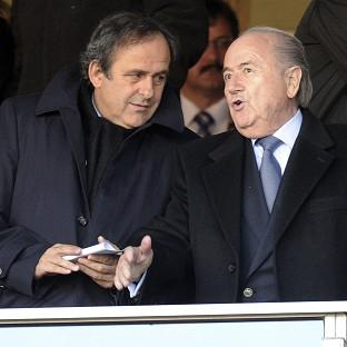 Michel Platini, left, backed Europe's response to Sepp Blatter's U-turn