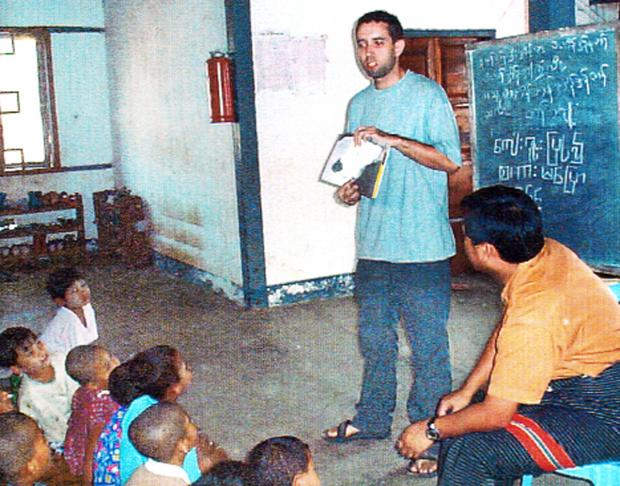 James Marshall teaching in Myanmar