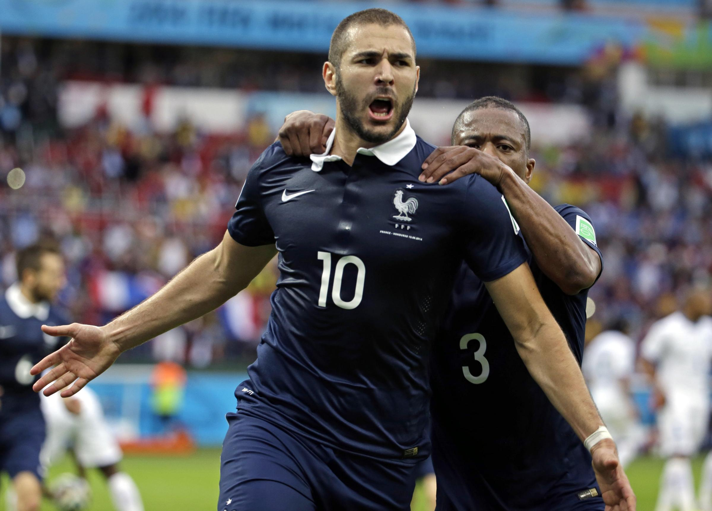 Benzema scores twice as France ease past 10-man Honduras
