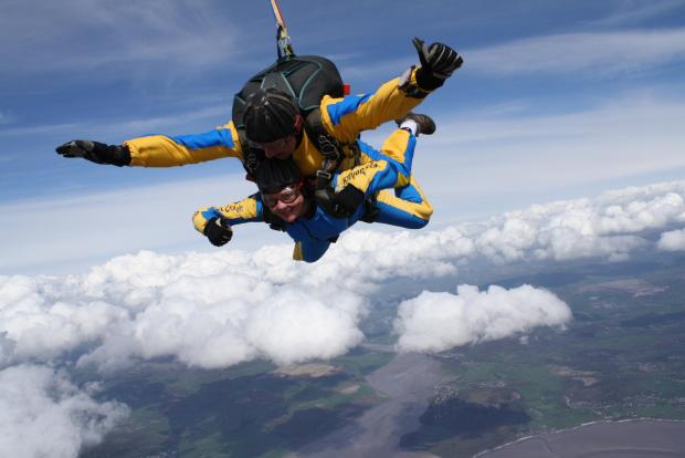 The Westmorland Gazette: Vicky during her skydive