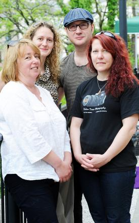 Some of the Kendal Summer Arts Festival team, from L-R Caroline Hennessy, Heather May, Scott Hincks and Helen Isacc