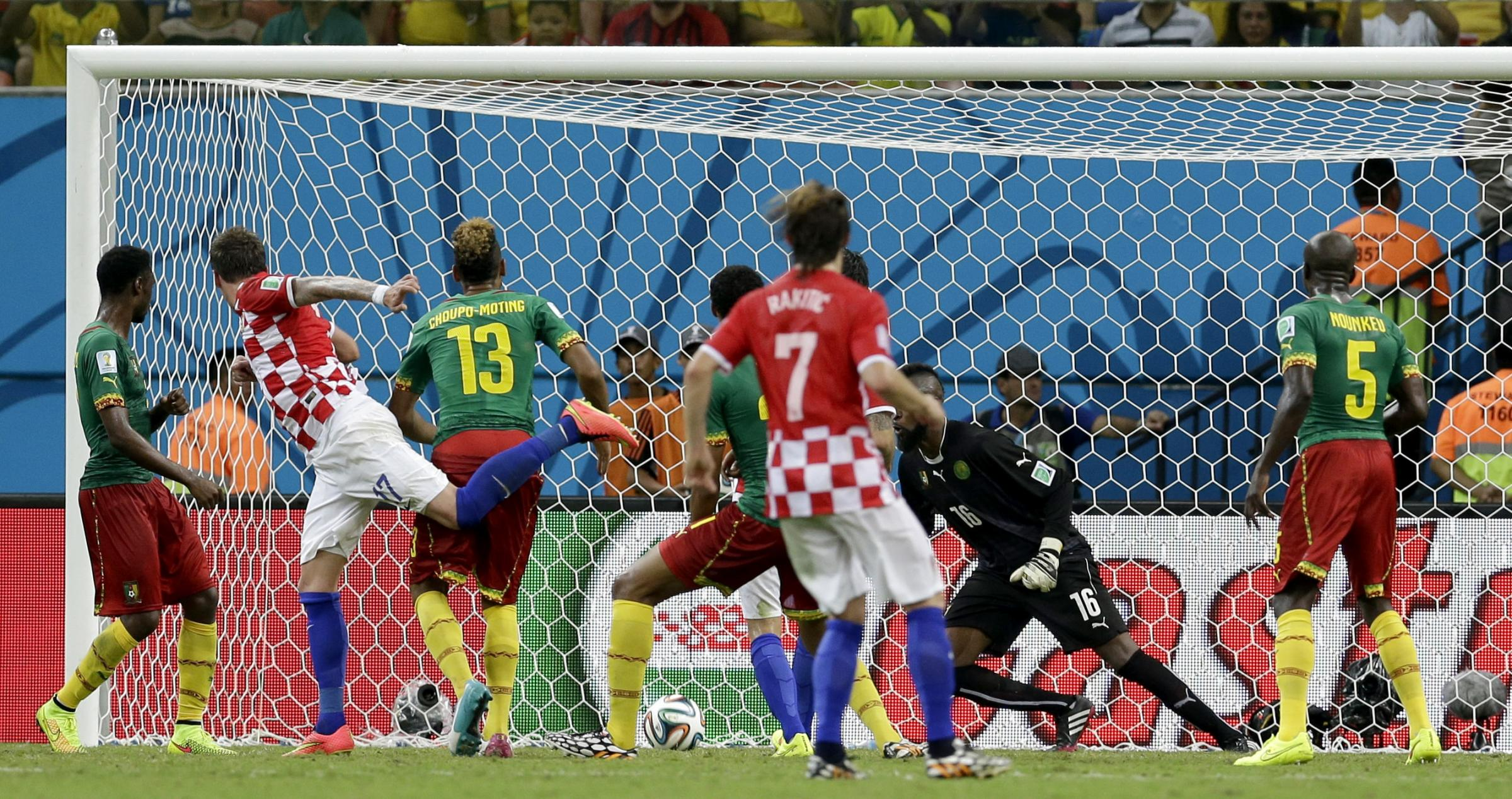 Song sees red as Croatia thrash ten-man Cameroon