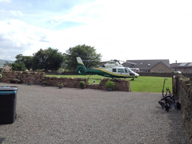 Badly burned man airlifted to hospital from Brough