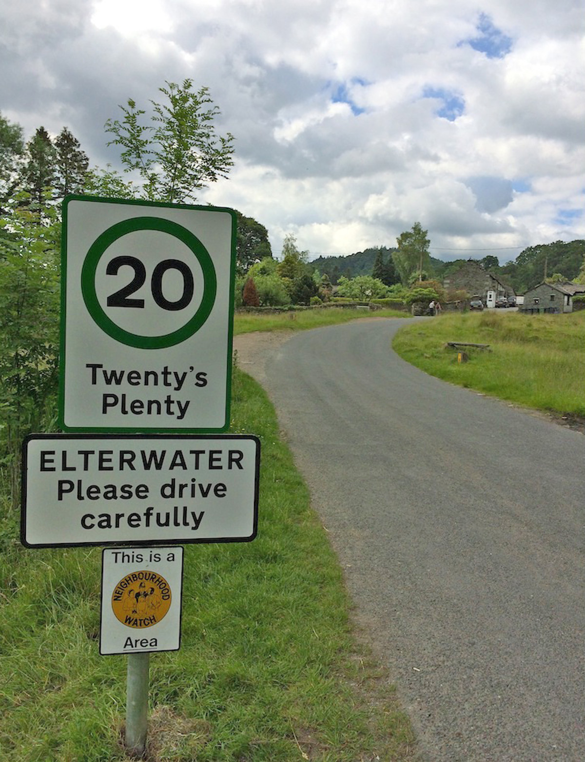 The new signs at Elterwater