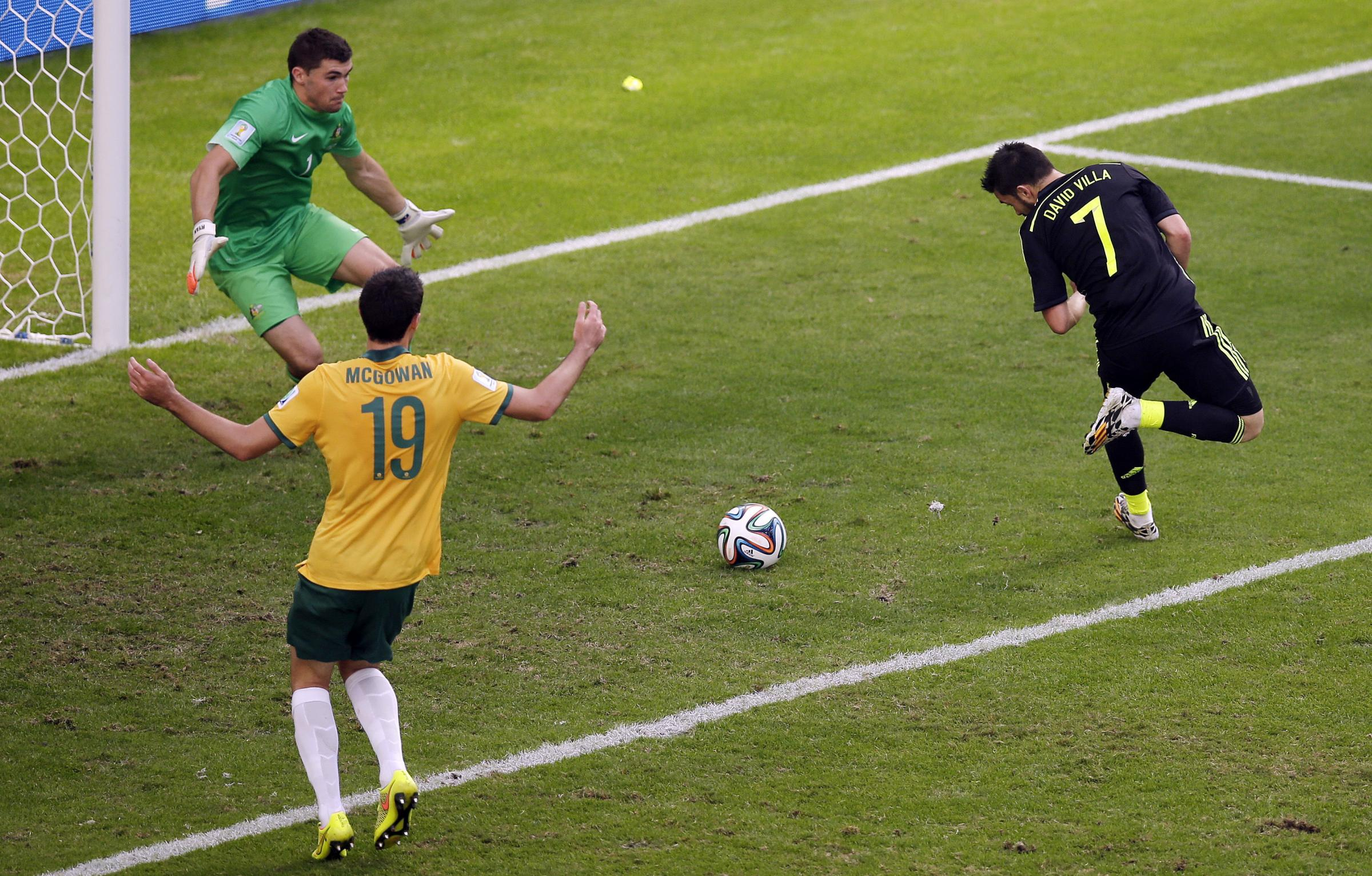 Spain end poor World Cup with Australia win