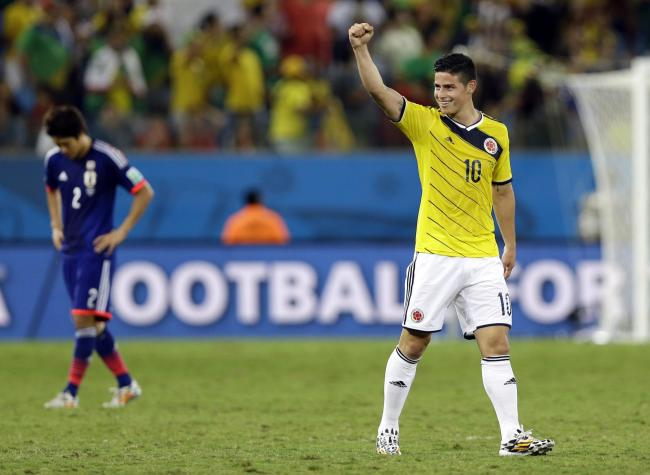 Rodriguez inspires Colombia to victory over Japan