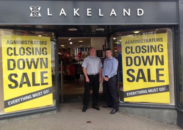 Lakeland Leather owner Richard Standring and Martin Foster of Felldale Retail Ltd