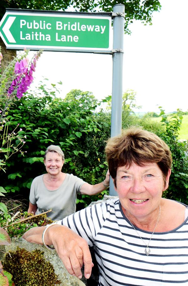 Coun Enid Hastings and Coun Claire Wildsmith who have worked hard to get £23,000 funding to improve a footpath