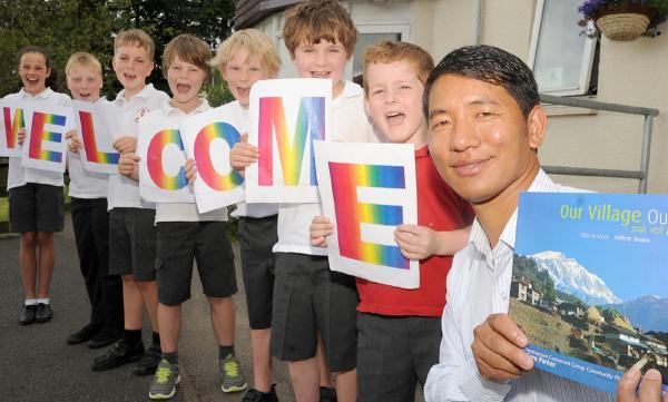Gehendra Gurung gets a special welcome in Grange