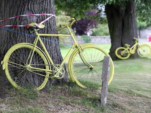 Tour supporters urged to turn yellow bikes green