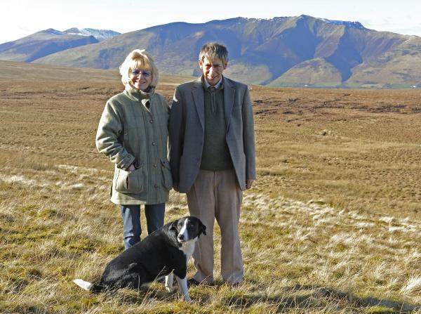 Lord and Lady Lonsdale who have just sold Blencathra