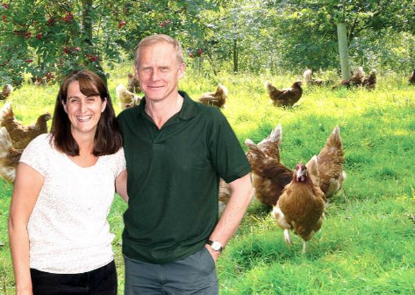 David and Helen Brass on their farm at Stainton, near Penrith