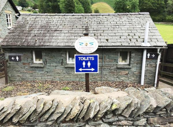The toilets sign at Great Langdale