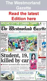 The Westmorland Gazette: Westmorland gazette-frontpage