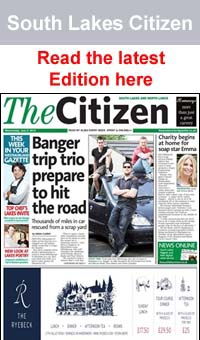 The Westmorland Gazette: South lakes Citizen frontpage