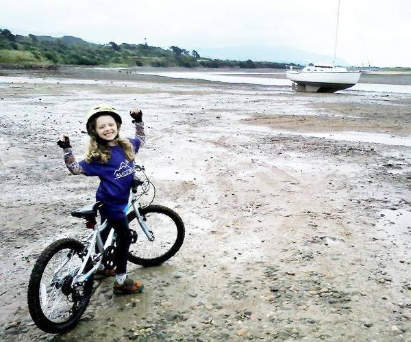 Ella Parker ready to launch into her epic ride at Ravenglass