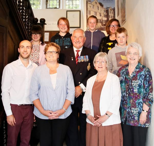 Pictured at the opening of the exhibition are (front row): Rob Freeman, Janette Talbot, Barry Blood, Kate Croll, Anne Read; back row: Sophie Armitage, Molly Kellet, Zara Coultherd, Isabelle Marklew, Ben Bilsborough