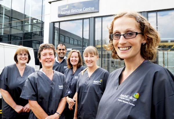 Staff at the new facility at Kendal College