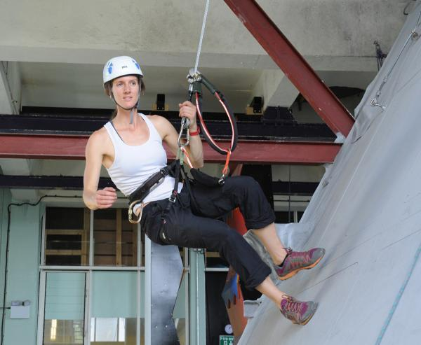 Via Ferrata project manager Steph Kerek using the new attraction