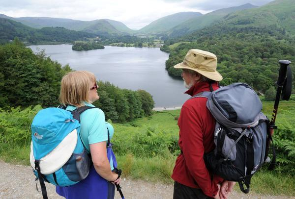 If you go our fell walking ensure you are as well prepared and equipped as this couple at Loughrigg Terrace near Grasmere