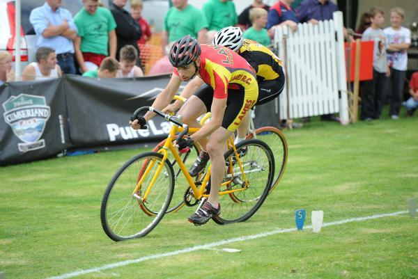 One of the cycling races at Ambleside Sports
