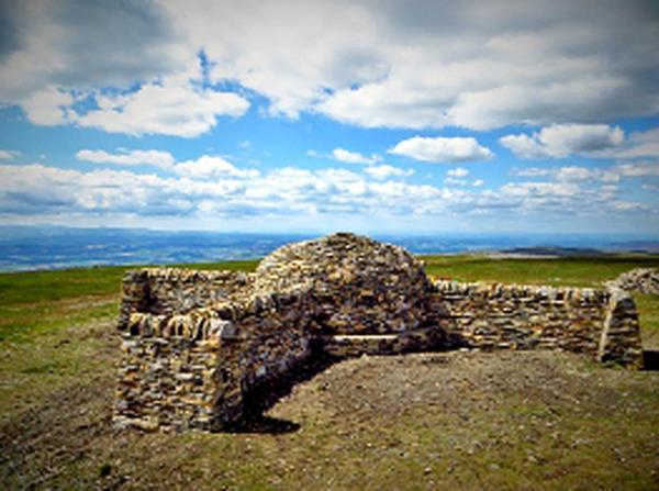 The rebuilt structure on Cross Fell