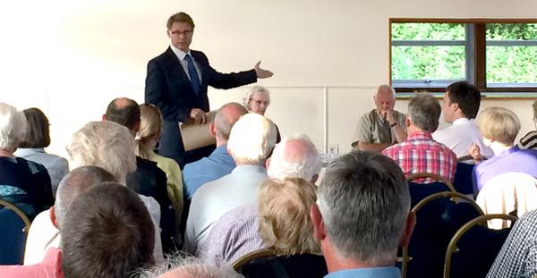 David Morris MP at the meeting at Cowan Bridge