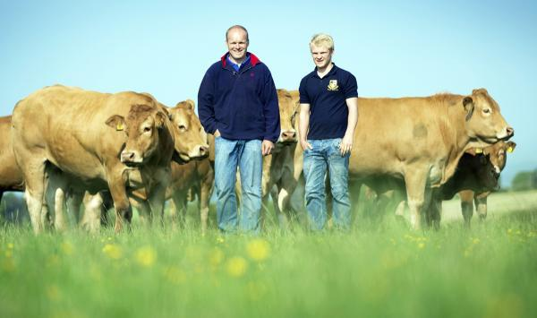TOP BREED: Limousin farmer Stephen Illingworth with his son Thomas
