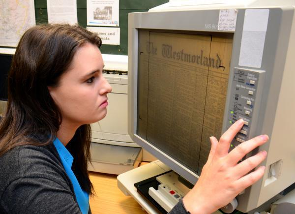 SCREEN TEST: Reporter Katie Dickinson researches two soldiers' stories at Kendal Library