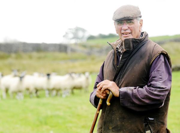 Farmer Jack Wallbank's father George Wallbank at their Keasden farm
