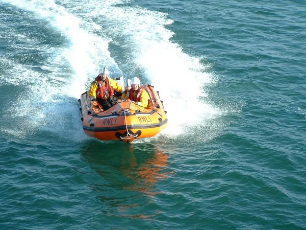 Lifeboat crews rescue group unable