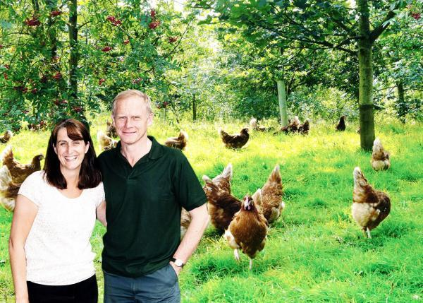EGGS-ACTING STANDARDS: Eden farmers David and Helen Brass help inspire high-profile ad campaign