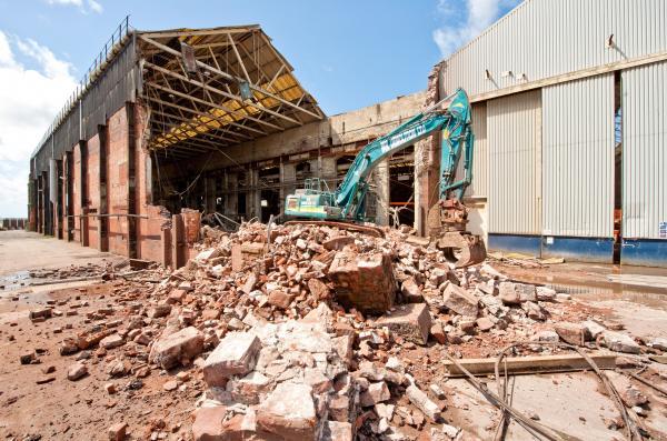 CRUNCH TIME: Demolition underway at BAE yard