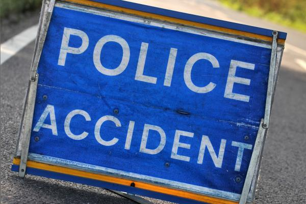 Emergency services dealing with two vehicle accident at Levens