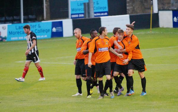 Newcastle Benfield celebrate opening the scoring