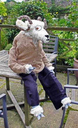 Prof Mutton-Choppe, one of the many sheep that will be scattered around Sedbergh during Sheepfest