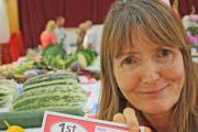New exhibitor Janet Spencer with her prize-winning tomatoes