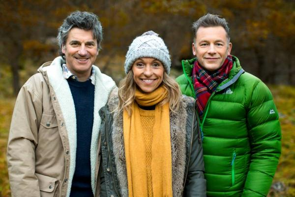 Presenters Martin Hughes-Game, Michaela Strachan and Chris Packham