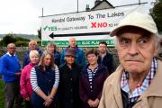 Arthur Mayo, chair of action group South Kendal Preservation Association and Lumley Road resident, with other residents opposing housing development plans.   (10696730)