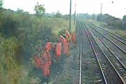Image from forward-facing camera in incident train © First TransPennine Express