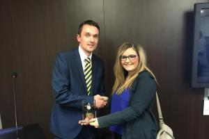 Female apprentice electrician outperforms male counterparts to scoop award