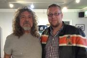 WHOLE LOTTA LOVE: Simon Robinson (right) meets his musical hero Robert Plant